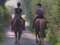 Riding on the lane